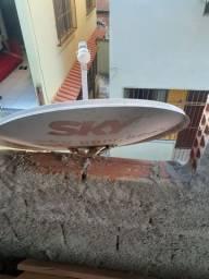 Vendo antena sky com aparelho