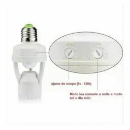 Título do anúncio: Sensor De Presença Para Lâmpada Soquete Base E27 Fotocélula 360° Bivolt