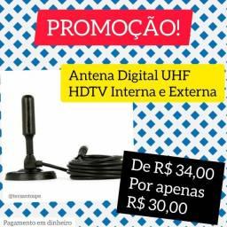 Antena Digital UHF Interna e Externa