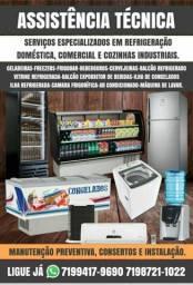 Consertos em Geladeiras, Freezers, Frigobar, Bebedouros, Cervejeiras