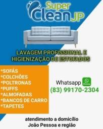 Lavagem é higienização de estofados