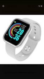 Smart watch D20 Y68 impermeável com 2 par de pulseiras