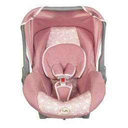 Bebê conforto Tutti Baby rosa e cinza