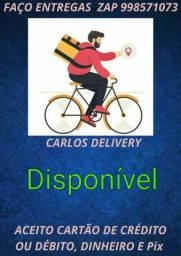 Faço entregas de bicicleta