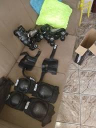Patins + kit de proteção
