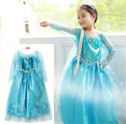 Fantasia frozen vestido princesa Elsa frozen