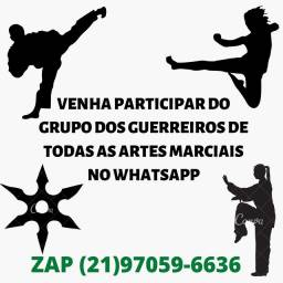Grupo gratuito para treinar Artes Marciais