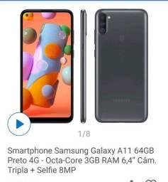 Celular Samsung Galaxy A11 64GB Preto 4G<br><br>
