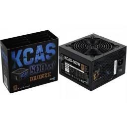 Fonte KCAS 500w Selo 80 Plus Bronze Nova Lacrada