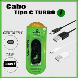 Cabo Carregador turbo Fast charge TIPO C 25W Android turbo Motorola, samsung, xiaomi, LG