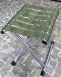 Assento Banquinho Praia Camping Pesca Portátil Dobrável