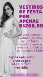 Vários vestidos de Festas por R$200,00 cada