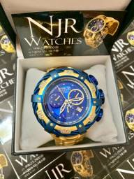 Relógio Invicta Thunderbolt Azul Banhado a ouro lacrado