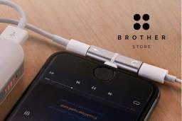 IPhone Lighting - Adaptador Fone Carregador