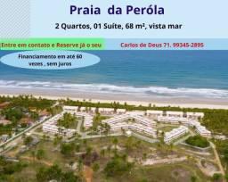 Praia da Pérola, excelente 2 Quartos, 01 suíte,  68 m², varanda, vista mar, em Ilhéus