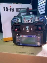 Radio FlySky I6 + Cabo para Simulador