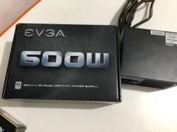 Fonte 600W, TOP 80Plus White EVGA