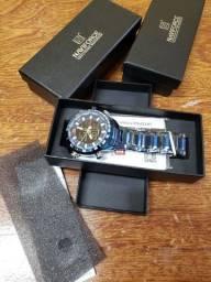 Relógio naviforce luxo