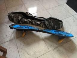 Skate Montado Profissional Infantil Articulado Duas Rodas Azul com capa protetora