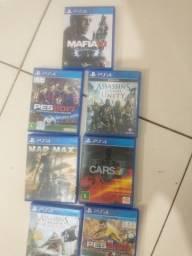 7 jogos de play 4 só 150 reais