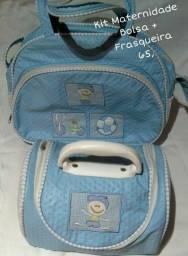 Kit Bolsa + Frasqueira para bebê