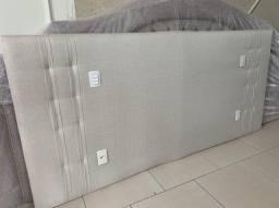 Cabeceira de cama medidas 260x120h tecido linho semi nova .