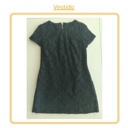 Vestido Preto Curto (renda) - 40