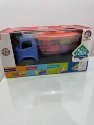 Brinquedo caminhão Dino Sabidinho