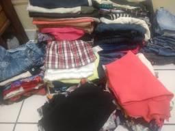 Lote de roupa 120 peças