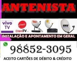 Antenista instalador de tv via satélite