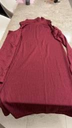 Vestido canelado feminino