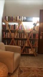 Estante madeira de livros tok stok