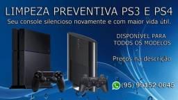 Limpeza Preventiva PS3 e PS4
