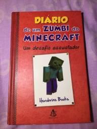 Livro Diário De um Zumbi no Minecraft