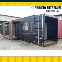 Casa Container Dry 40 HC - 30m² 02 dormitórios - Promocional - Simples