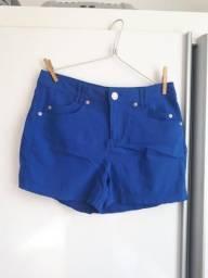 Short cintura alta azul