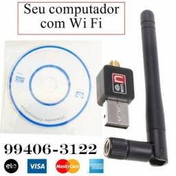 Antena adaptador receptor Wi Fi 600 mbs - Original (entrego, aceito cartão)