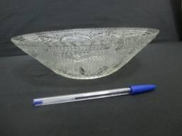 Lindo e antigo centro de mesa Bowl tigela de vidrão trabalhado anos 1970