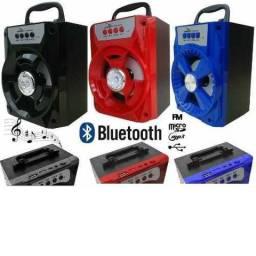 Caixa de Som Bluetooth Quadrada - NOVO