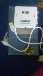Conversor HD vídeo de AV para HDMI