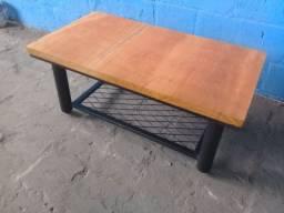 Mesa de centro, nova, madeira e metal, peça exclusiva