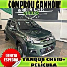 TANQUE CHEIO SO NA EMPORIUM CAR!!! FIAT UNO WAY 1.0 ANO 2015 COM MIL DE ENTRADA