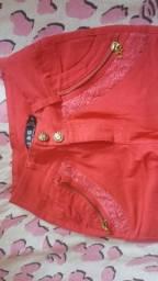 Calça jeans rosa Pink com elastano
