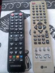 2 controles DVD Samsung e LG 25 reais a unidade
