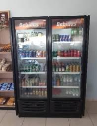 % Expositor 2 Portas Black Visa Cooler Bebidas - Marcos