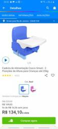 Cadeira de alimentação pouco usada
