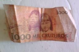 Nota Cédula Antiga 1000 Mil Cruzeiros Cândido Rondon