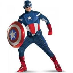 Vendo Fantasias Vingadores Deluxe Importada - Capitão América