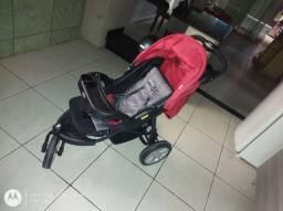 carrinho de bebe kiddo race 46 vermelho