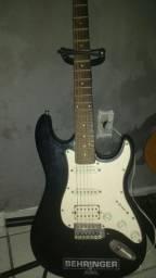 Guitarra+pedaleira+caixa multiuso